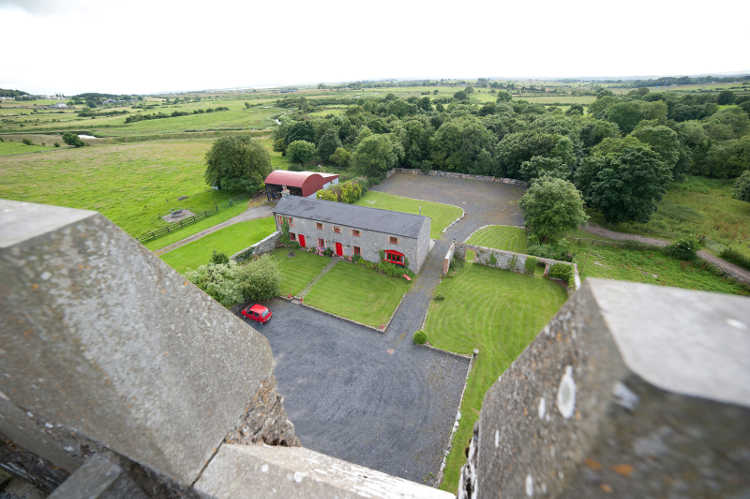 View of Coach House From Top of Castle
